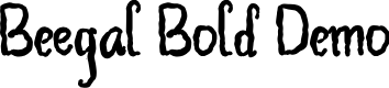 Preview image for Beegal Bold Demo Font