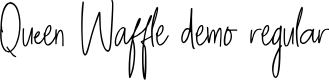 Preview image for Queen Waffle DEMO Regular Font