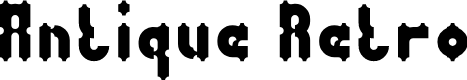 Preview image for Antique Retro Font