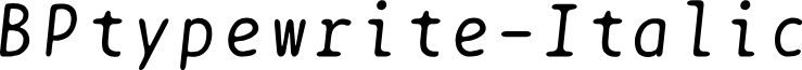 BPtypewrite-Italic