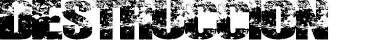Preview image for DESTRUCCION Font