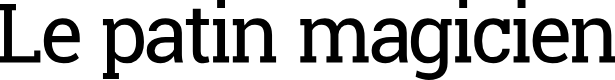 Preview image for Le patin magicien Font