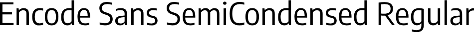 Encode Sans SemiCondensed Regular
