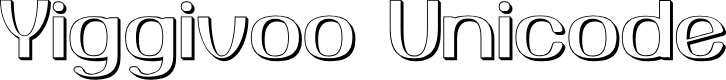 Preview image for Yiggivoo Unicode 3D