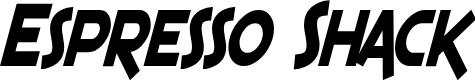 Preview image for SF Espresso Shack Condensed Bold Italic