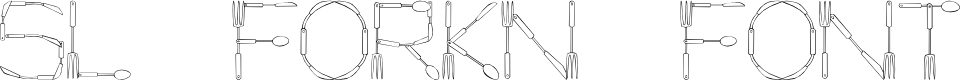 Preview image for SL Fork'n Font