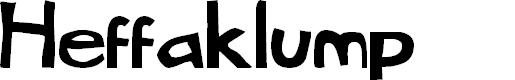 Preview image for Heffaklump Font