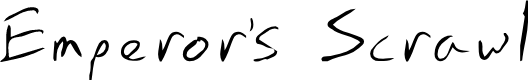 Preview image for Emperors Scrawl Font