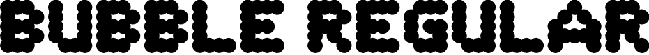 Preview image for Bubble Regular Font