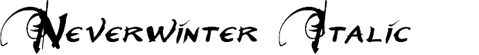 Preview image for Neverwinter Italic