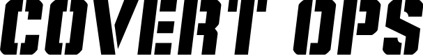 Preview image for Covert Ops Semi-Italic