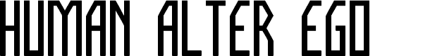 Preview image for HUMAN ALTER EGO Font