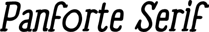 Panforte Serif Italic