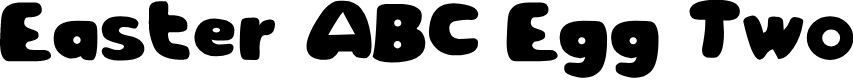 Preview image for Easter ABC Egg Two Font