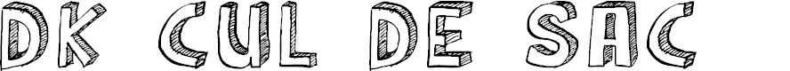 Preview image for DK Cul De Sac Font