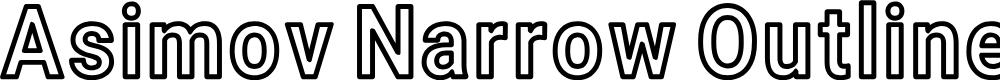 Preview image for Asimov Narrow Outline