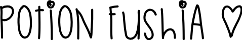 Preview image for PotionFushia Font