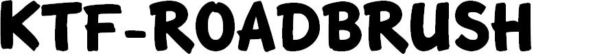 Preview image for KTF-Roadbrush Font