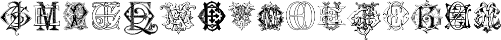 Preview image for Intellecta Monograms Random Samples Six Font