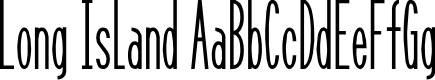 Preview image for Long Island Font