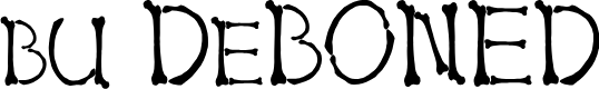 Preview image for bu DeBONED Font