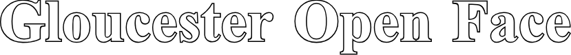 Preview image for Gloucester Open Face Font