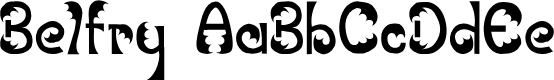 Preview image for JI Belfry Font