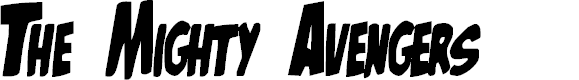 Preview image for The Mighty Avengers Font