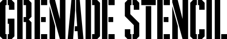 Preview image for Grenade Stencil Regular Font