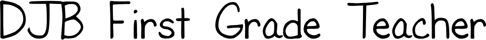 Preview image for DJB First Grade Teacher Font