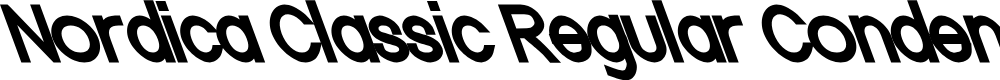 Preview image for Nordica Classic Regular Condensed Opposite Oblique