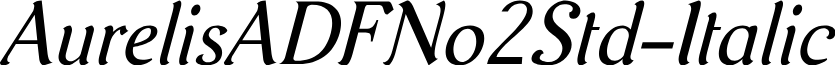 AurelisADFNo2Std-Italic