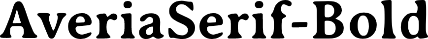 Preview image for AveriaSerif-Bold Font
