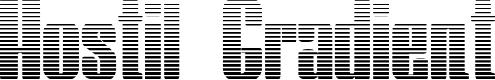 Preview image for Hostil Gradient Font