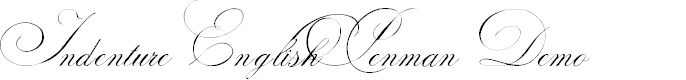 Preview image for Indenture English Penman Demo Font