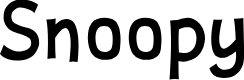 Preview image for Snoopy Font