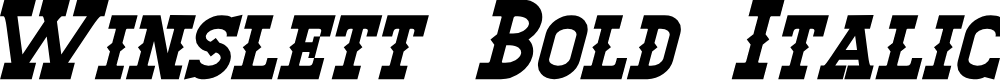Preview image for Winslett Bold Italic