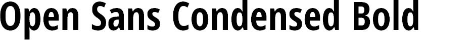 Preview image for Open Sans Condensed Bold Font
