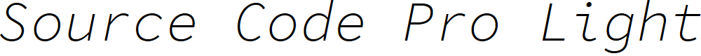Preview image for Source Code Pro Light Italic