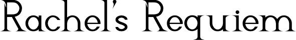 Preview image for Rachel's Requiem Font