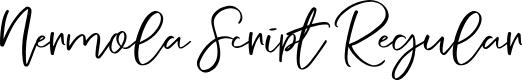 Preview image for Nermola Script Regular Font