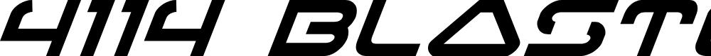 Preview image for 4114 Blaster Super-Italic