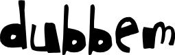 Preview image for dubbem Font