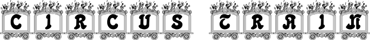 Preview image for Circus train Font
