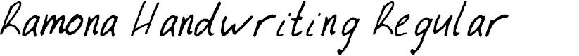 Preview image for Ramona Handwriting Regular Font