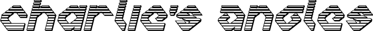 Charlie's Angles Chrome Italic