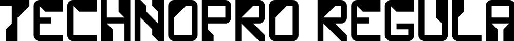 Preview image for TechnoPro Regular Font