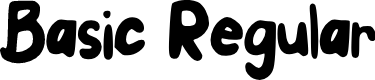 Preview image for Basic Regular Font