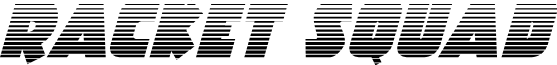 Racket Squad Gradient Italic