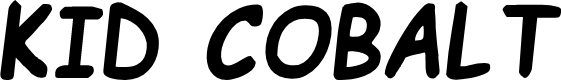 Preview image for Kid Cobalt Font